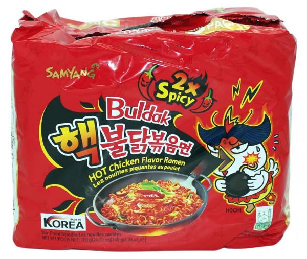 Samyang Doppel Hot Chicken Ramen, 5x 140 g