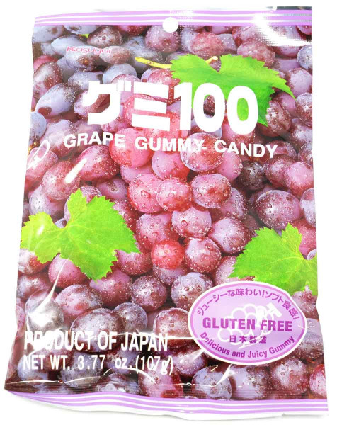 Kasugai Fruchtgummi Traube, 113 g