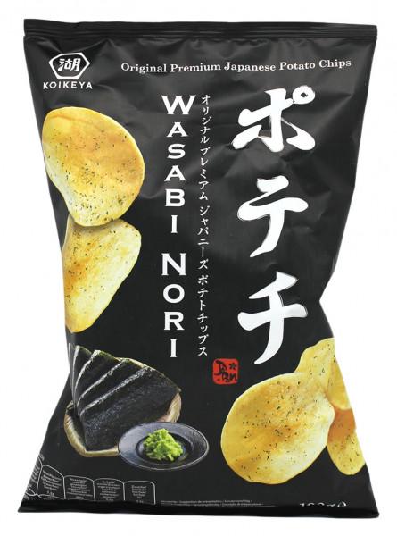 Kartoffelchips mit Wasabi & Nori Algen, 100 g