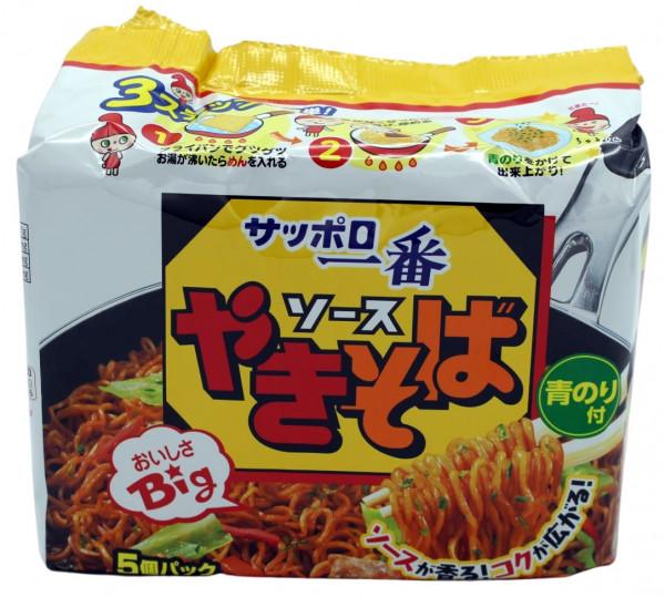 Sapporo Ichiban gebratene Nudeln Yakisoba, 5 Beutel je 112 g