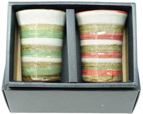 Becherset rot/grün, 8 x 10 cm