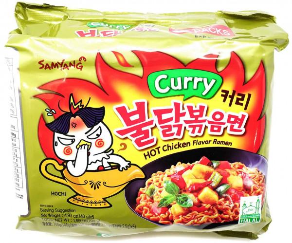 Samyang Hot Chicken Ramen Curry, 5x 140 g