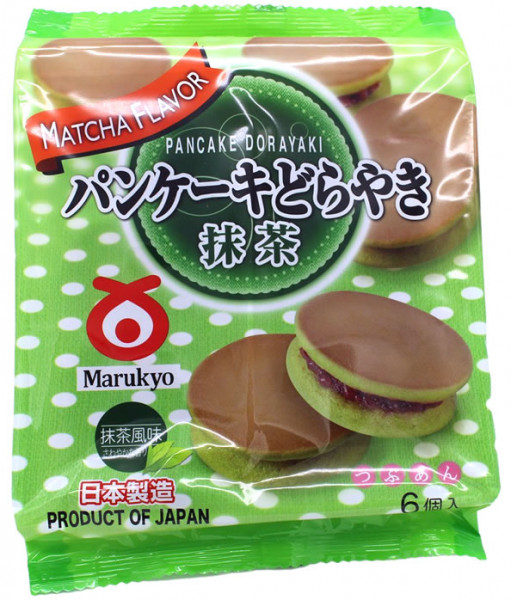 MARUKYO Matcha Dorayaki, japanischer Pfannkuchen mit Grüntee-Geschmack, 310 g