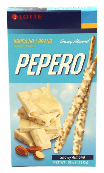 LOTTE Pepero Schnee-Mandel, 32 g