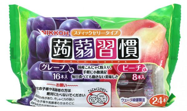 NIKKOH Konjak Jelly Traube & Pfirsich, 384 g