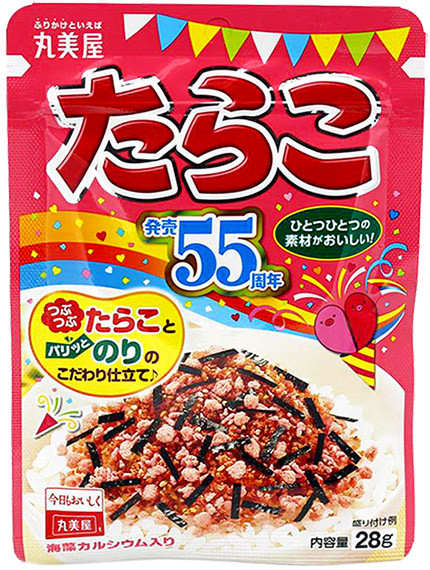Marumiya Tarako Furikake Reisgewürz mit Kabeljaurogen, 28 g
