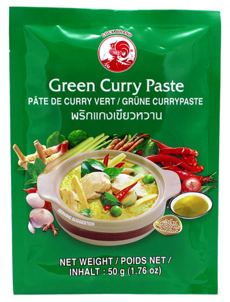 Cock Grüne Currypaste scharf, 50 g