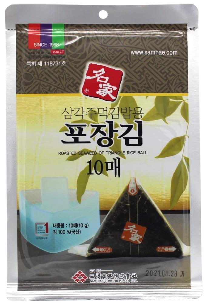 Geröstete Algenblätter für Dreieck-Gimbap, 10 Blätter