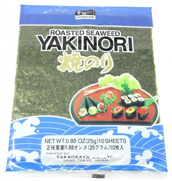 Takaokaya Sushi Nori (10 Blatt), 25 g