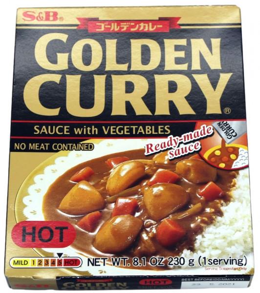 Golden Curry Currysauce mit Gemüse scharf, 230 g