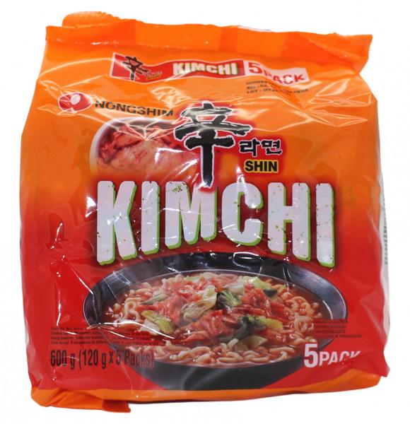 Nongshim Shin Ramen Kimchi, 5x 120 g