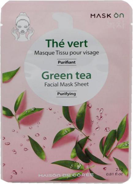 Reinigende Gesichtsmaske mit grünem Tee