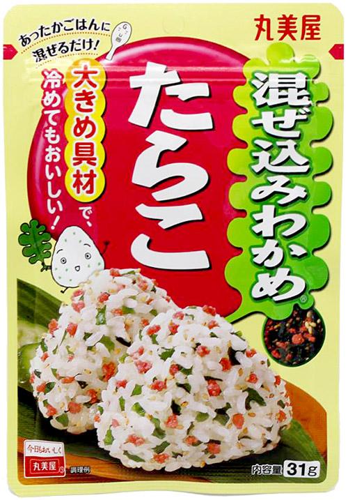 Marumiya Mazekomi Wakame Tarako Reisgewürz mit Kabeljaurogen, 31 g