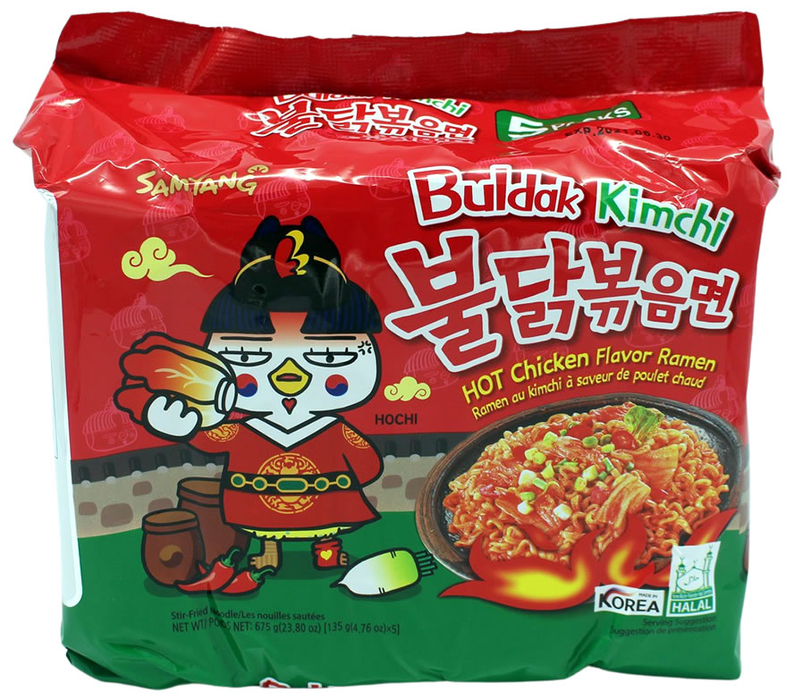 Samyang Hot Chicken Ramen Kimchi, 5x 135 g