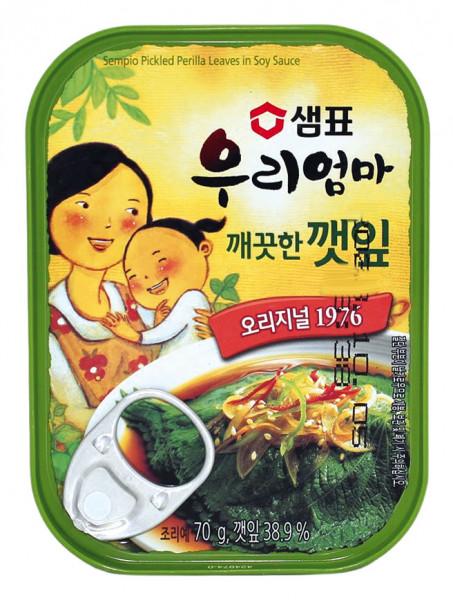 Koreanisch eingelegte Sesamblätter mild, 70 g