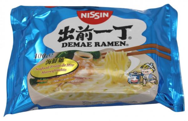 Nissin Demae Ramen Meeresfrüchte Instant Nudelsuppe, 100 g