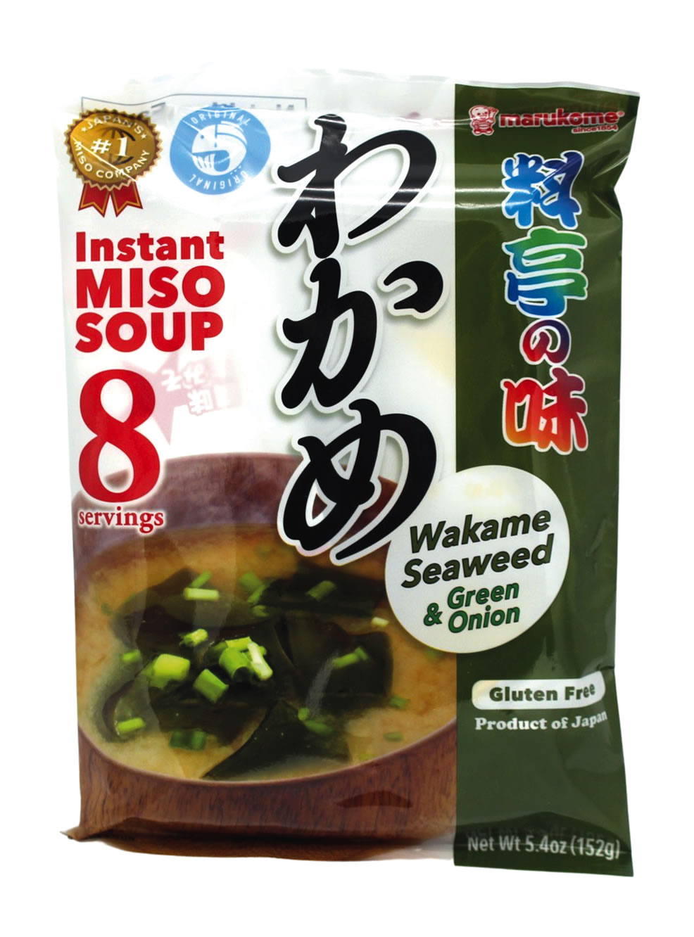 Marukome Instant Miso Suppe mit Seetang, 152 g