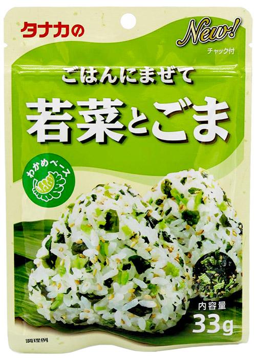 Tanaka Reisgewürz mit Wakame-Algen, jungem Rettich und Sesam, 33 g