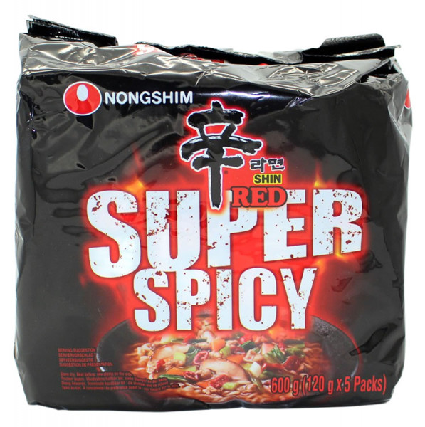 Nongshim Shin Ramen Super Spicy, 5x 120 g