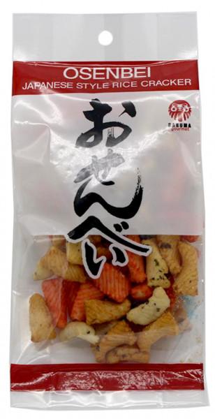 Daruma Osenbei-Reiscracker mit Sojasaucen- und Garnelengeschmack, 50 g