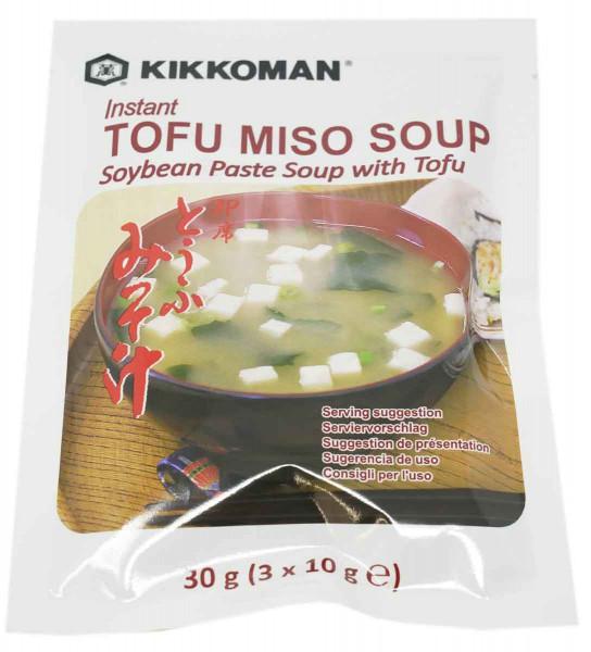 KIKKOMAN Instant Miso Suppe mit Tofu, 30 g