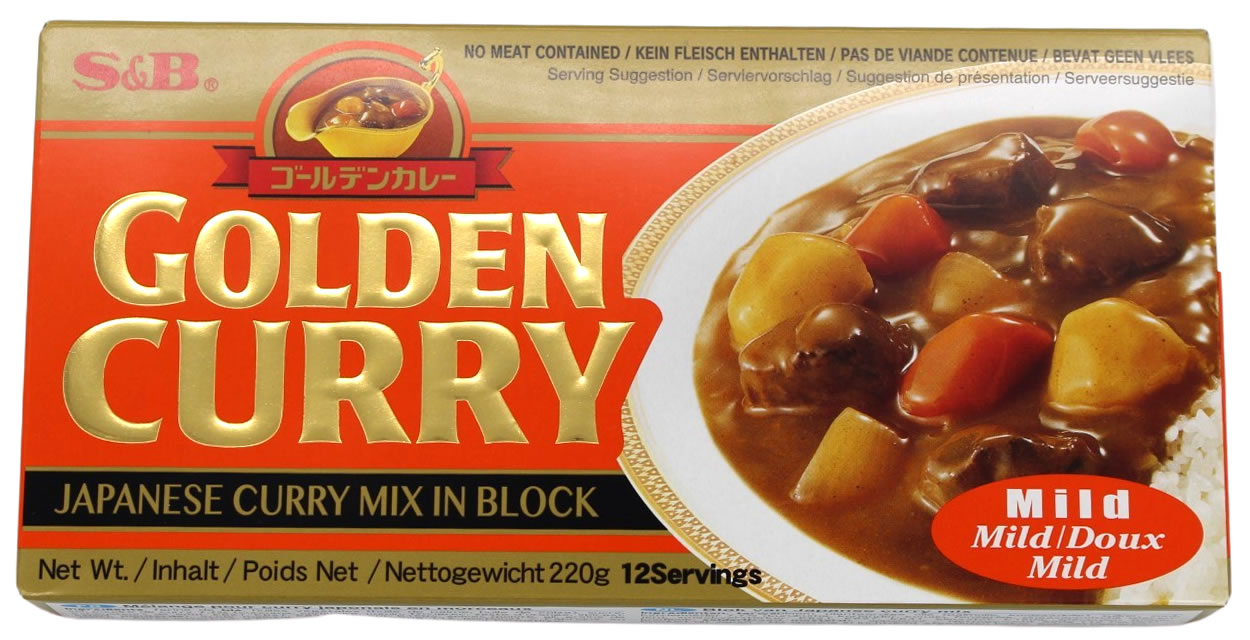 Golden Curry Currysauce mild, 12 Portionen, 220 g