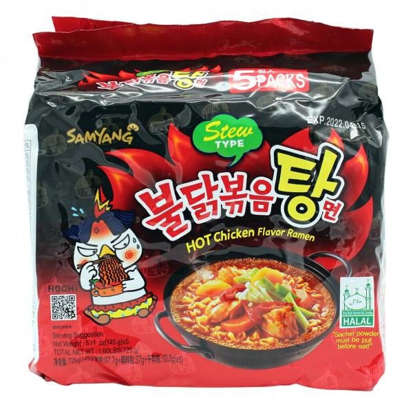 Samyang Stew Type Hot Chicken Flavor Ramen Nudeln, 725 g