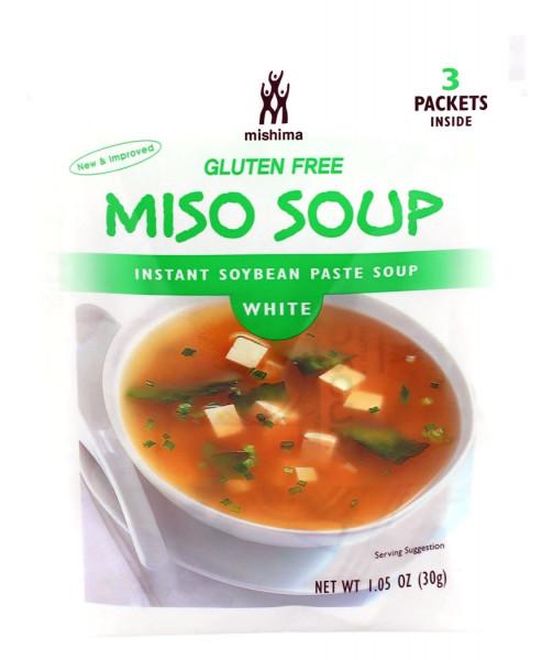 Instant Sojabohnenpaste weiß für Misosuppe, 30 g