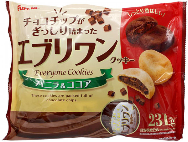 Furuta Everyone Cookies Valinne & Kakao, 231 g