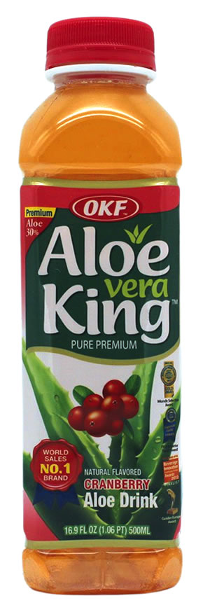OKF Aloe Vera Getränk Cranberry, 500 ml