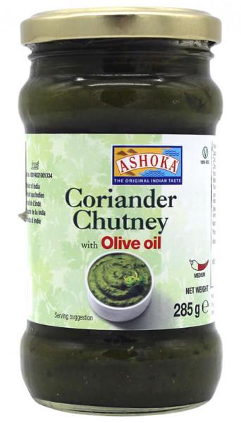Koriander Chutney mit Olivenöl, 285 g