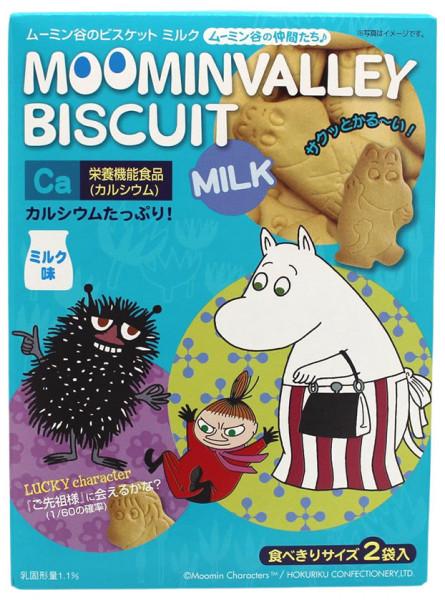 Japanische Muminvalley Kekse mit Milch-Geschmack, 90 g