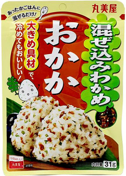 Marumiya Mazekomi Wakame Okaka Reisgewürz mit Algen und Bonito, 31 g