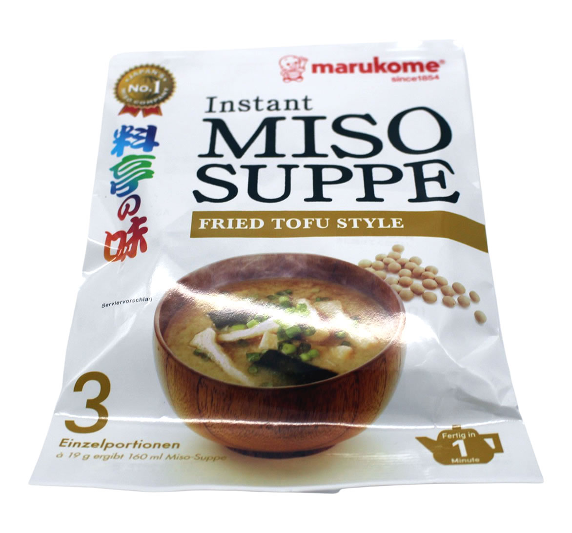 Marukome Instant Miso-Suppe mit gebratenem Tofu, 57 g