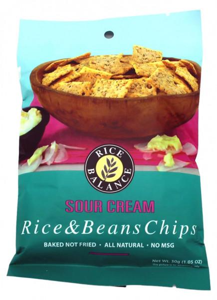 Reisgebäck mit Adzukibohnen und schwarzen Sojabohnen, Sauerrahm Geschmack, 30 g