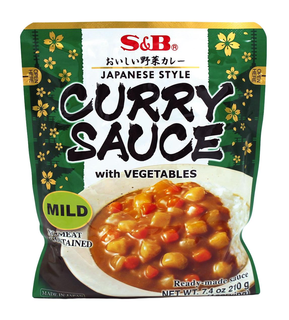 S&B Currysauce japanischer Art mit Gemüse mild, 210 g