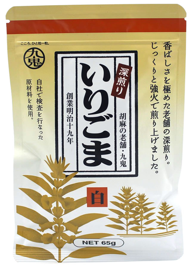 Fuka-Irigoma Shiro Gerösteteter Weißer Sesam, 65 g