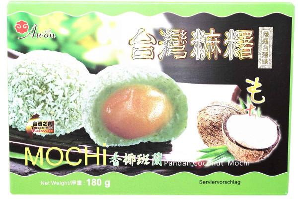 Awon Mochi mit Kokosnuss & Pandan, 180 g