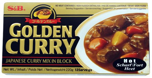 Golden Curry Currysauce scharf, 12 Portionen, 220 g