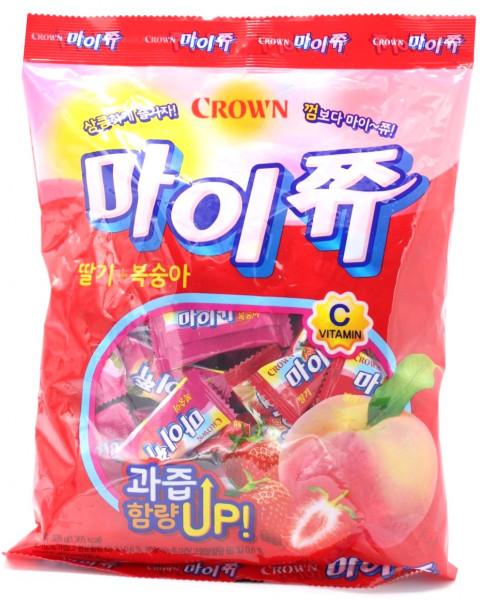 CROWN My Chew Erdbeer/Pfirsich, 328 g
