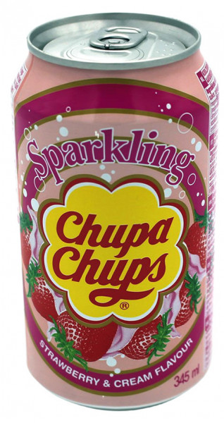 Chupa Chups Sparkling Soda Erdbeere, 345 ml