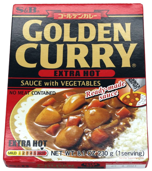 Golden Curry Currysauce mit Gemüse extra scharf, 230 g