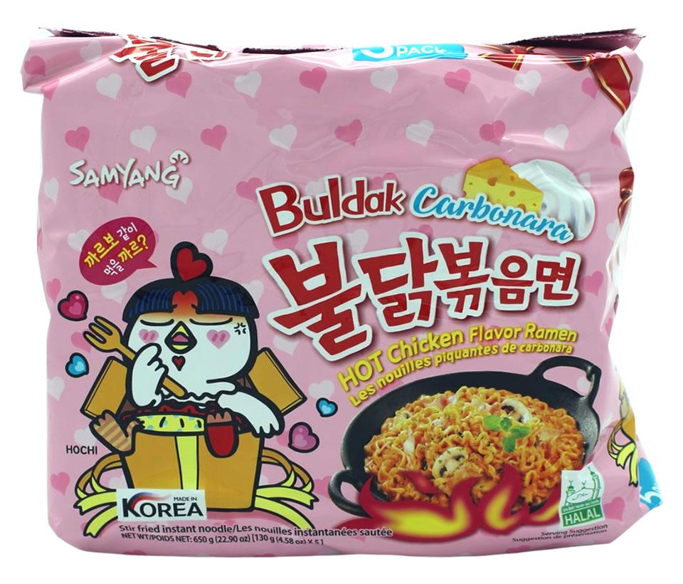 Samyang Hot Chicken Ramen Carbonara, 5x 130 g