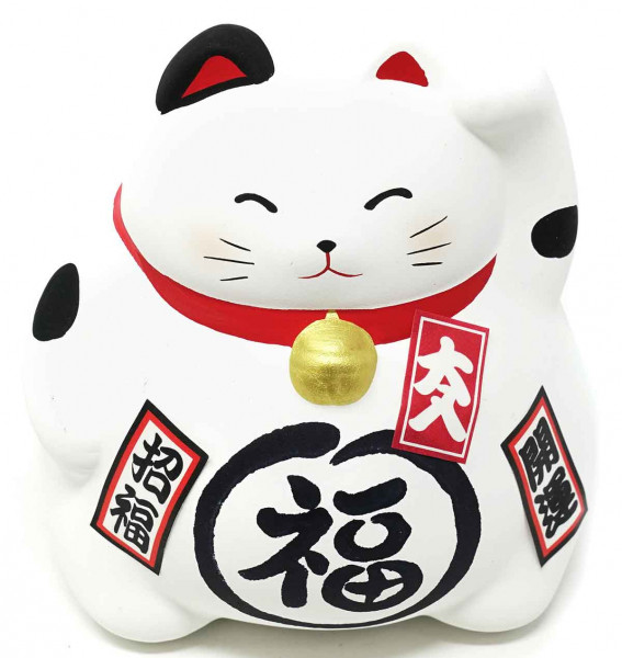 "Maneki-neko ""Glückskatze"", weiß, 9 cm"