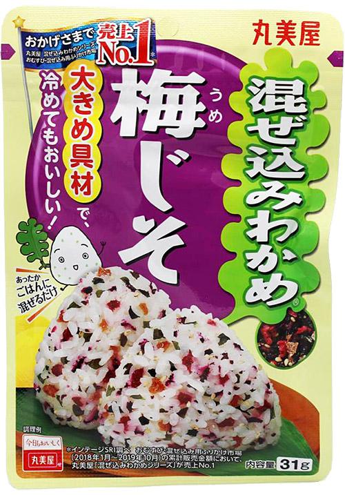 Marumiya Mazekomi Wakame Umejiso mit Algen und Ume, Salz und Ume, 31 g