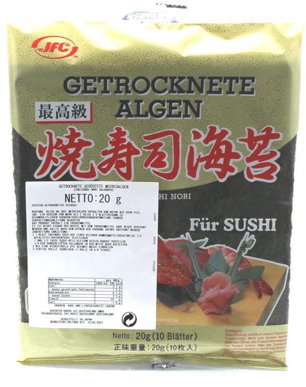 Yaki Sushi Nori Saikokyu GOLD, 10 Blätter