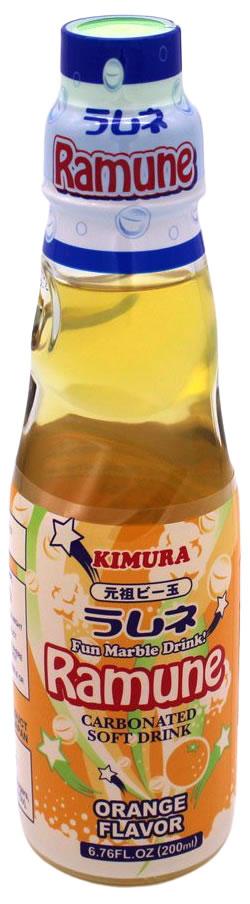 Kimura Ramune-Limonade Orangen-Geschmack, 200 ml