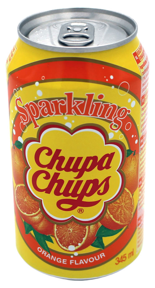 Chupa Chups Sparkling Soda Orange, 345 ml