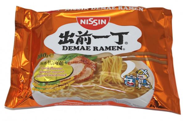 Nissin Demae Ramen Ente Instant Nudelsuppe, 100 g