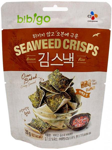 Bibigo Algen-Chips mit Barbecue-Geschmack, 20 g